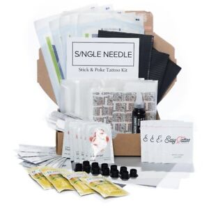 Single Needle HAND POKE Home Self Tattoo DIY Kits *All Types* Fast Discreet UK