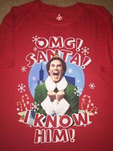 7a48da203 ELF movie Will Ferrell costume SANTA Claus Christmas X-MAS New MEN'S ...