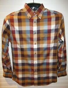 Jos-A-Bank-Traveler-039-s-Collection-Men-039-s-Plaid-Long-Sleeve-Shirt-Size-S-NWOT