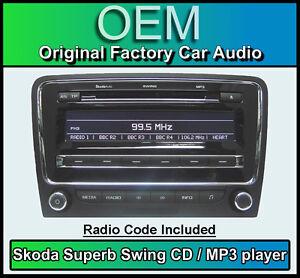 Skoda Superb Lecteur CD Stéréo Skoda Swing Avec Code Radio