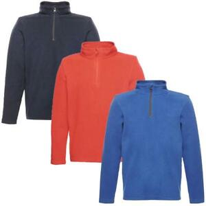 Regatta-Kids-Brigade-Boys-Girls-Half-Zip-Fleece-Pullover-Top