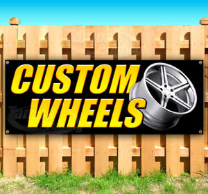 Many Sizes Available New WE Sell Tires and Wheels Extra Large 13 oz Heavy Duty Vinyl Banner Sign with Metal Grommets Advertising Flag, Store