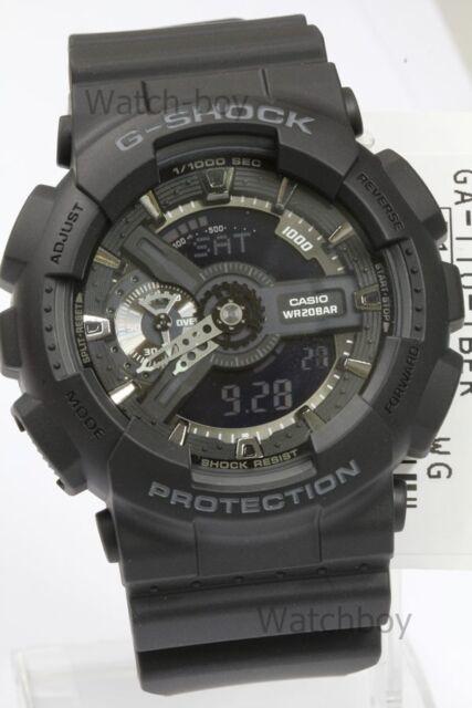 GA-110-1B Schwarz Casio Herrenuhr G-Shock Analog Digital 200M in Original Packy