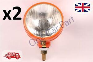 PAIR Ferguson TE20 TEA20 TED20 TEF20 Tractor Headlamp Orange 2x