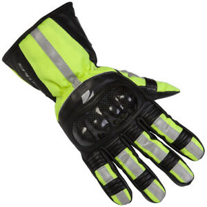 XL Spada Overmitts WP Motorcycle Gloves Yellow