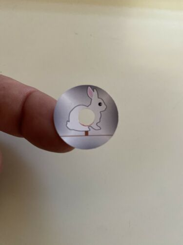 "Williams Comet Pinball Machine ""Shooting Gallery"" Target Stickers ""Rabbits"" 6"