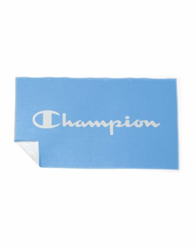 Champion Athletics Beach Towel Script Logo Swiss Blue