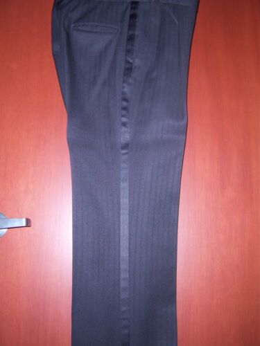 Black Tone on Tone Striped Tuxedo Trousers men/'s size 28-40 waist available