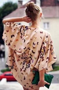 Wild 6 Kimono Premium Topshop 2 Vtg Nude Blogger Butterfly Celeb Drape Xs Jacket 6EwnvOxZ
