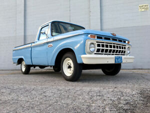 Beautiful Blue 1965 Ford F100 Pickup Truck