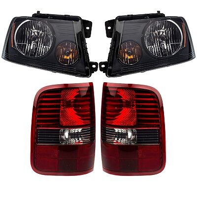 Tail Light Lens and Housing Compatible with 2006-2008 Ford F-150 Red and Smoked Lens Harley Davidson Model From 8-9-2005 Passenger Side