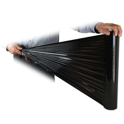 200m 1 Rolle StretchfoliePalettenfolieschwarz50cm breit23µmca