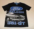 Ford XB Falcon 351 GT Boys Black Printed Cotton Short Sleeve T Shirt Size 8 New