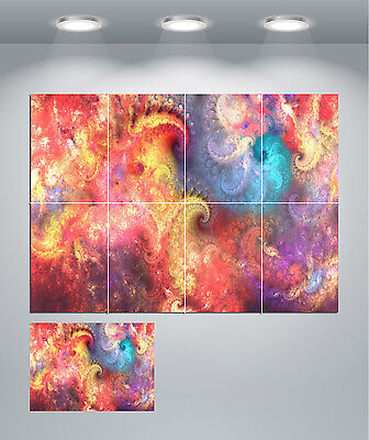 Psychedelic Trippy Colourful Giant Wall Art poster Print