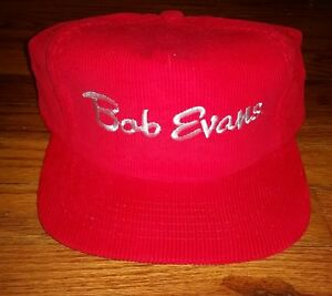 f39c8f17183 VINTAGE Bob Evans Vintage Snapback Hat Cap Mens Corduroy Trucker ...