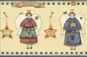 Wallpaper-Border-Country-Angels-and-Stars-on-Beige-with-Blue-Trim