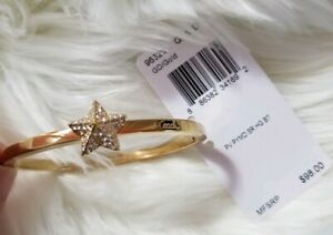 Coach-Gold-Plated-Star-Bangle-Bracelet