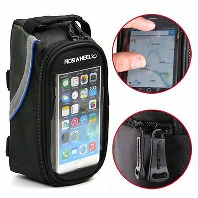 Cycling Bike Bicycle Front Frame Pannier Tube Bag For Cell Phone iPhone 6 6S