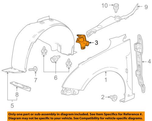 Chevrolet GM OEM 11-15 Cruze Fender-Lower Bracket Left 96845507