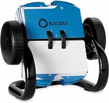 Rolodex Open Rotary Business Card File 360 Degree Access 200 Sleeved Cards