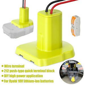 18V Li-ion Battery Output Adapter DIY Power Wheels Converter Terminal For Ryobi
