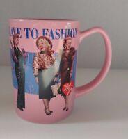 Slave To Fashion Pink Coffee Mug I Love Lucy Lucille Ball & Ethel Tea Cup Vandor