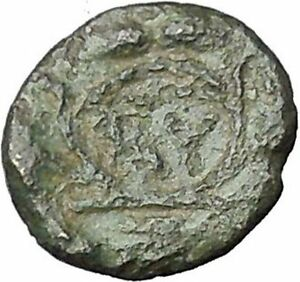 Lysimacheia-in-Thrace-309BC-RARE-Ancient-Greek-Coin-Athena-Grain-wreath-i49743