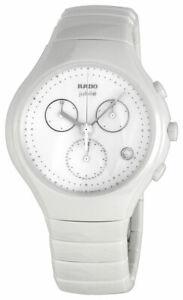Rado-Diastar-True-Chronographe-Blanc-Ceramique-Montre-Femmes-Quartz-Date