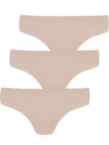 Damen HÜFTSLIP 3er Pack von Pompadour 7740//1//2-020-P in Weiss Skin Schwarz