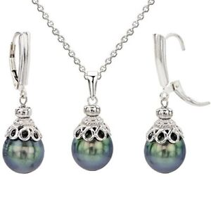 Sterling-Silver-10-11mm-Black-Tahitian-Cultured-Pearl-Pendant-Chain-and-Lever