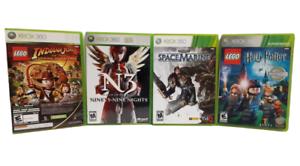 Lot of 4 Xbox 360 Games, Space Marine, N3 99 Nights, Harry Potter, Indiana Jones