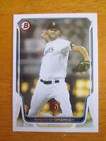 Rare! 2014 BOWMAN - BLANKBACK ERROR - Andrew Cashner #182 Padres