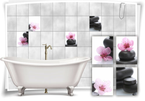 Carrelage Autocollant Fliesenbild Rose Fleur Rose Wellness Spa autocollant carrelage salle de bain