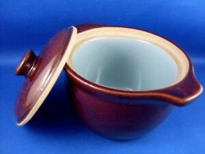Vintage-DENBY-ENGLAND-Stoneware-Pottery-CASSEROLE-OVEN-DISH-w-LID-VG-Collectable