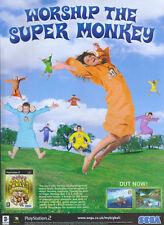 "Super Monkey Ball Deluxe ""worship The Super Monkey"" 2005 Magazine Advert #4794"
