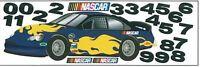 Nascar Racecar In Blue Mini Mural Sk6465m