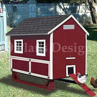 4'x6' Backyard Gable Chicken House / Coop Plans, 90406G