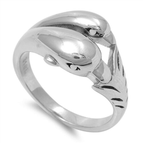 Solid Dolphin  316L Stainless Steel Ring Sizes 5-10