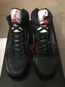 d75849c084ef Men s Nike Air Jordan 5 V Retro Satin Black Red 136027-006 Size 10.5 ...