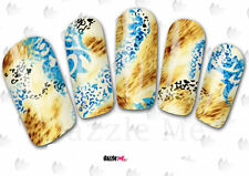 Nail Art Sticker Water Decals Transfer Creative Art Leopard Skin (DC155)