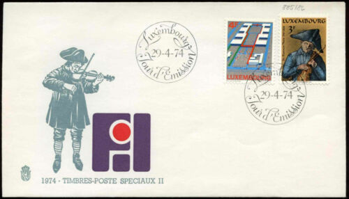 Luxembourg 1974 Int. Fair, Theis The Blind FDC First Day Cover#C29069
