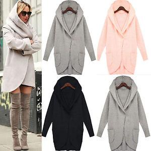 Women-039-s-Hooded-Woolen-Hoodie-Winter-Warmer-Pocket-Jacket-Coat-Outwear-Overcoat