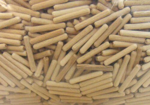 1 kg = ca Holzdübel Buche geriffelt 10 mm x 40 mm 450 Stück