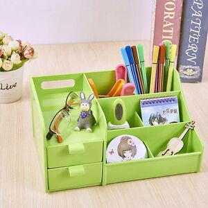 Image Is Loading Green Office Home Plastic Desk Pen Pencil Holder