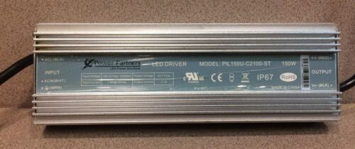 100-277V IP67,Waterproof Power Partners,PIL150U-C2100-ST Used LED Driver 150W