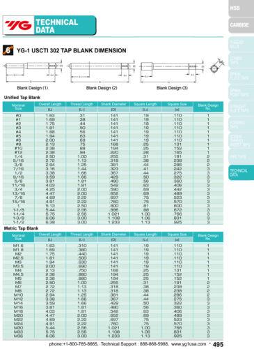 "0.005/""Oversize 3 Flute Spiral Point Plug Tap HSS YG1 6pcs 3//8-16 H11"