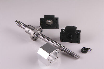 CNC Ballscrew SFU1605-360mm with nut 1 set BK//BF 12 Nut Housing RM1605
