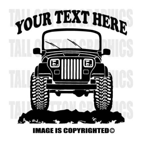 JEEP YJ WRANGLER SUV  Truck 4x4 Off Road Personalized Custom Vinyl Decal