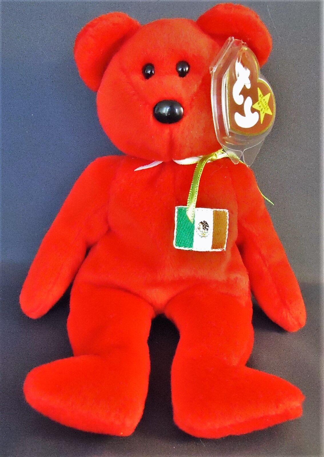 Ty original beanie babys osito mexiko tragen 9  beanbag in plüsch, 1999