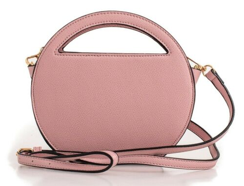 WOMENS SMALL ROUNDED HARDCASE PROM PARTY ZIP GRAB HANDLE FASHION SATCHEL BAGS